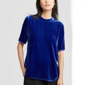 Eileen Fisher 3X Royal Blue Crushed velvet Top